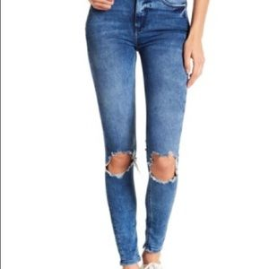 "Free People ""Turquoise"" Skinny Jean"